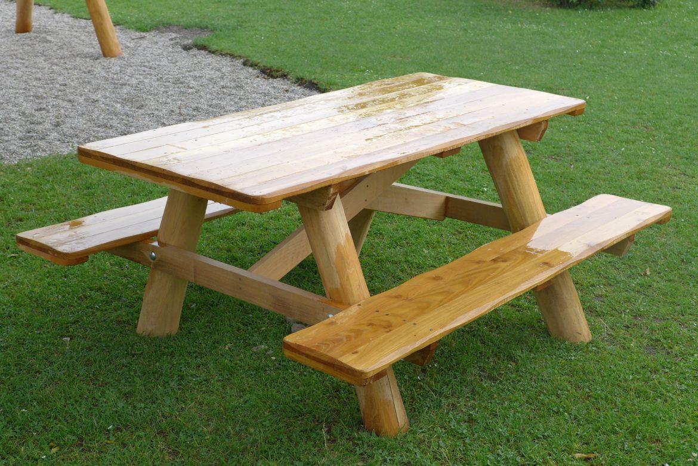 Robinie Tisch-Bank Kombination